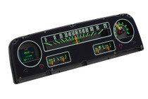 1964-66 Chevy Pickup RTX Instrument System illuminated with indicators side view
