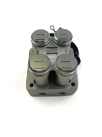 Evolve 2-Corner Billet Manifold Valve- Brushed Anodized Finish - top view