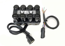 EVOLVE 4-Corner Billet Manifold Valve- Black Powder Coated Finish