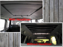 "35"" X 55"" Folding Sliding Rag Top ""1984-2001 Jeep Cherokee XJ""- with or without headliner view"