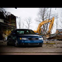 2002-2008 Audi A4/R4/RS4 Air Lift Kit (with NO SHOCKS) w/ manual Air Management - front view
