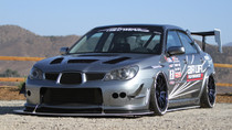 2005-2007 Subaru STi Air Lift Kit with Manual Air Management Vehicle Front View