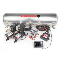 "RidePro E5 Air Ride Suspension Control System | 3 Gallon Dual Compressor - 1/4"" Valves"