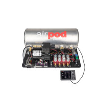 "RidePro E5 Air Ride Suspension Control System | 3 Gallon Single Compressor AirPod - 1/4"" Valves"