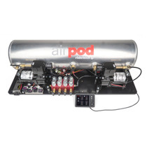 "RidePro E5 Air Ride Suspension Control System | 5 Gallon Dual Compressor AirPod - 1/4"" Valves"