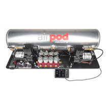 "RidePro E5 Air Ride Suspension Control System | 5 Gallon Dual Compressor AirPod - HIGH FLOW Big Red 3/8"" Valves"
