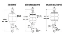 Builders Series Shock Kits - Standard Bellow Style Air Shock Specification Sheet