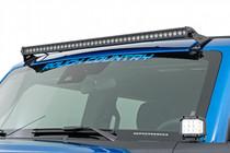 "LED Light   Windshield   40"" Single Row   Ford Bronco (2021) displayed on vehicle"