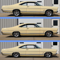 1965-1972 Ford Galaxie | Front and Rear Air Suspension System displayed at different heights