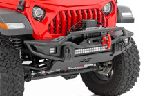 Tubular Front Bumper | Jeep Gladiator JT / Wrangler JK & JL Mounted View (Winch not included)