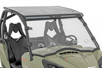 Can-Am Scratch Resistant Vented Full Windshield (11-20 Commander) front view