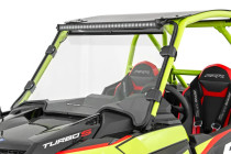 Polaris Scratch Resistant Full Windshield (19-21 RZR Turbo S) mounted side view