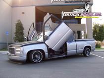 Vertical Doors 1988-1998 CHEVY SILVERADO Bolt on Lambo Door Kit - displayed on vehicle