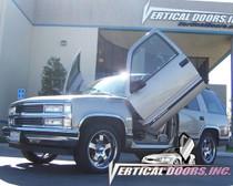 Vertical Doors 1995-1999 CHEVY TAHOE Bolt on Lambo Door Kit - displayed on vehicle