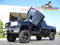 Vertical Doors 2007-UP GMC SIERRA  Bolt on Lambo Door Kit - displayed on vehicle