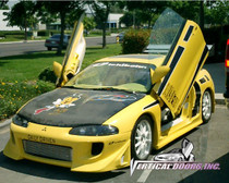 Vertical Doors 1995-1999 MITSUBISHI ECLIPSE Bolt on Lambo Door Kit - displayed on vehicle