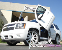 Vertical Doors 2007-UP CHEVY TAHOE Bolt on Lambo Door Kit - displayed on vehicle