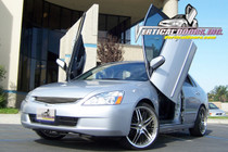 Vertical Doors 2003-2007 HONDA ACCORD Bolt on Lambo Door Kit (4 Door) - displayed on vehicle