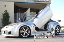 Vertical Doors 2003-2009 NISSAN 350Z Bolt on Lambo Door Kit (2 Door) - displayed on vehicle
