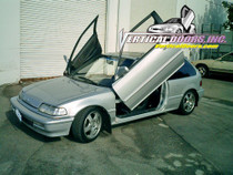 1988-1991 HONDA CIVIC/CRX Bolt on Lambo Door Kit (Hatch Back / 4 Door) - displayed on a vehicle