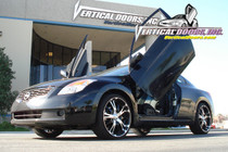 Vertical Doors 2008-2013 NISSAN ALTIMA Bolt on Lambo Door Kit (2 Door) - displayed on a vehicle