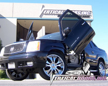 Vertical Doors 1999-2001 CADILLAC ESCALADE Bolt on Lambo Door Kit- displayed on a vehicle