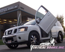 Vertical Doors 2004-2015 NISSAN ARMADA Bolt on Lambo Door Kit (4 Door) - displayed on a vehicle