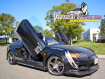 Vertical Doors 2002-2008 HYUNDAI TIBURON  Bolt on Lambo Door Kit - displayed on a vehile