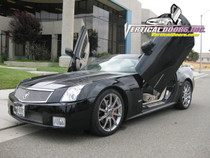 Vertical Doors 2004-2009 CADILLAC XLR Bolt on Lambo Door Kit - displayed on a vehicle