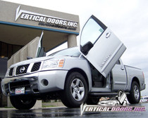 Vertical Doors 2005-2007 NISSAN TITAN  Bolt on Lambo Door Kit - displayed on a vehicle