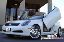 2003-2007 INFINITI G35 COUPE Bolt on Lambo Door Kit (2 Door) - displayed on a vehicle