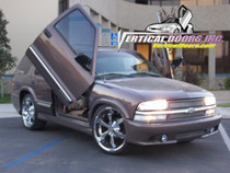 Vertical Doors 1995-2005 CHEVY BLAZER Bolt on Lambo Door Kit - displayed on a vehicle