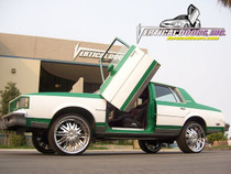 Vertical Doors 1978-1988 OLDSMOBILE CUTLASS Bolt on Lambo Door Kit - displayed on a vehicle