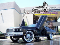 Vertical Doors 1971-1976 CHEVY CAPRICE Bolt on Lambo Door Kit - displayed on a vehicle