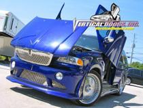 Vertical Doors 1997-2002 LINCOLN NAVIGATOR Bolt on Lambo Door Kit - displayed on a vehicle