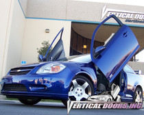 Vertical Doors 2004-2012 CHEVY COBALT Bolt on Lambo Door Kit - displayed on a vehicle