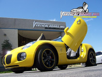 Vertical Doors 2006-2010 PONTIAC SOLSTICE Bolt on Lambo Door Kit - displayed on a vehicle