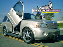 Vertical Doors 2003-2005 LINCOLN NAVIGATOR Bolt on Lambo Door Kit - displayed on a vehicle