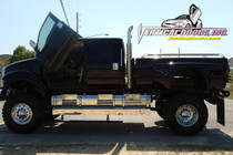 Vertical Doors 2006-2008 FORD F-650 Bolt on Lambo Door Kit - displayed on a vehicle