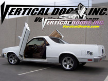 Vertical Doors 1978-1987 CHEVY EL CAMINO  Bolt on Lambo Door Kit - displayed on a vehicle