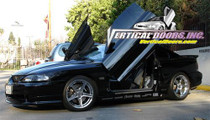 Vertical Doors  1994-1998 FORD MUSTANG  Bolt on Lambo Door Kit  - displayed on a vehicle