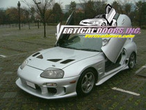 Vertical Doors 1993-2002 TOYOTA SUPRA Bolt on Lambo Door Kit - displayed on a vehicle