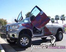 Vertical Doors 2007-2013 TOYOTA TUNDRA Bolt on Lambo Door Kit - displayed on a vehicle