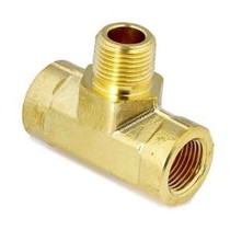 Brass Pipe Tee Male Branch 1/2 Npt