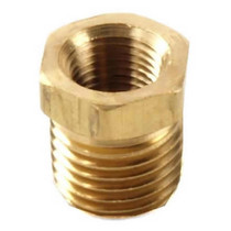 "Brass Bushing Reducer 1/2"" Mnpt To 1/4"" Fnpt"