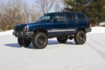 "84-01 Jeep Cherokee XJ-Chrys 8.25 Rr Axle 4.5"" Coil Lift w/Nitro Shks"