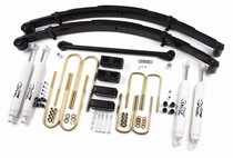 "00-04 F250,F350 Diesel&Gas 4WD w/curved front U-bolts 4"" Lift Kit"