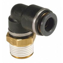 "Elbow-Male 3/8"" NPT x 3/8"" Tube SMC Brass"