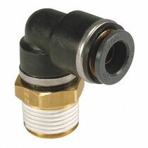 "Elbow- Male 1/2"" NPT x 3/8"" Tube SMC Brass"