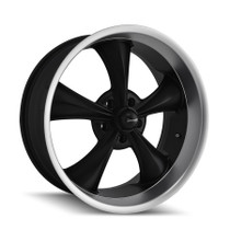 Ridler 695 Matte Black/Machined Lip 17X8 5-120.65 0mm 83.82mm
